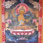 MEDITATION BODHISATTWA MANJUSHRI BUDDHA GOLD TIBETAN THANGKA PAINTING II 2