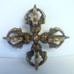 Tibetan Brass Double Dorje Vajra