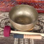 """Meditative Sound 7.5"""" Tibetan Singing Bowl #1602"""