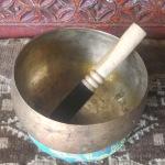 "Antique Hand Pounded Meditative 7"" TIBETAN SINGING BOWL #30608"