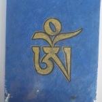Blue Handmade Himalayan Eco-friendly Tibetan OM Design Journal Book