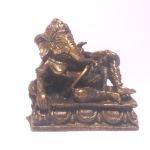 Brass Lounging Sri Ganesh Hindu Deity Statue