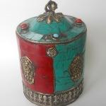 Tibetan Gemstone Box