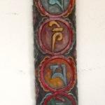 OM MANI PADME HUM Tibetan Mantra Wall Plaque
