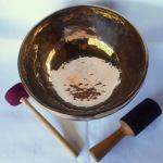 """Golden Treasure 12"""" Pema Tibetan Singing Bowl #128250"""