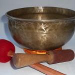 """Rare 100 Year Antique 9"""" Tibetan Singing Bowl #99200"""