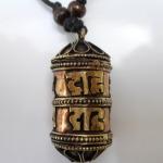 Copper Prayer Wheel Necklace