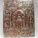 Silver & Copper Buddha Plaque
