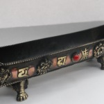 Tibetan Buddhist Mantra & Gemstone Copper Incense Burner S85