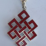 Coral Tibetan Endless Knot