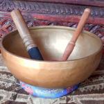 """Healing 9"""" Tibetan Singing Bowl #77142"""