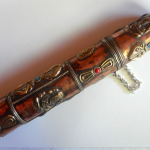 "Tibetan 12"" Ornate Copper Vajra Ganesh Incense Holder #9"