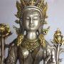 "Tibetan 8"" Green Tara Goddess Deity Statue"